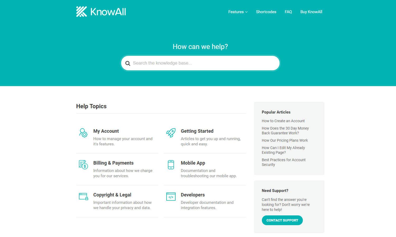 KnowAll Theme schermata