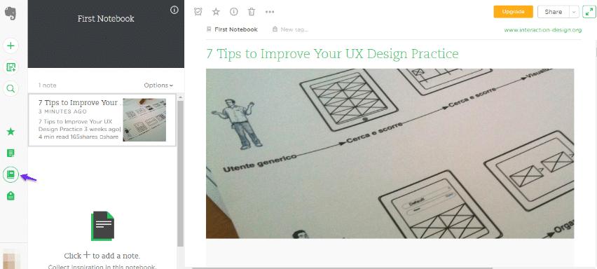 Clip di Evernote