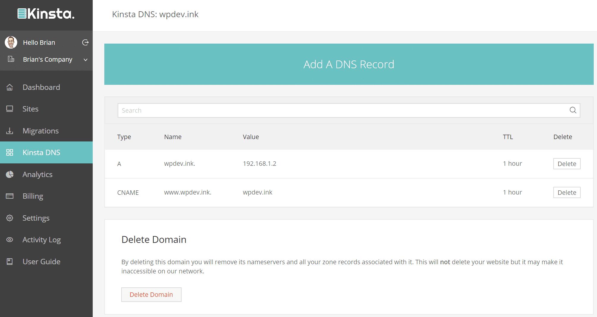 Record Premium DNS