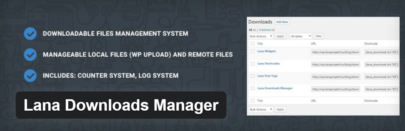 Il plugin Lana Downloads Manager