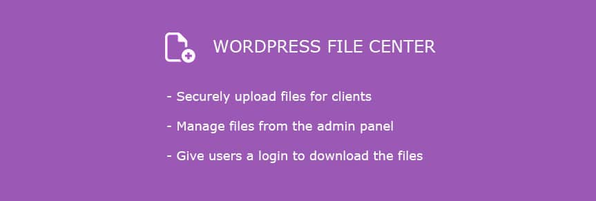 Il plugin WordPress File Center