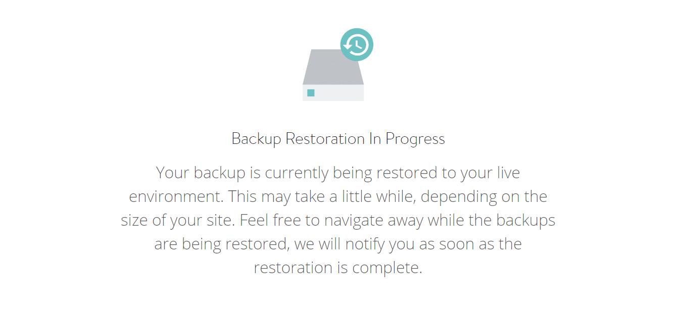 Ripristino Backup di WordPress in corso