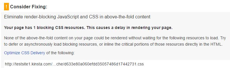 Eliminare le risorse JavaScript che bloccano la visualizzazione