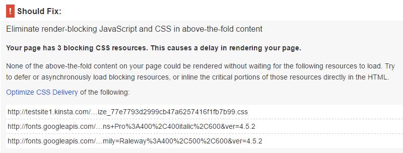 PageSpeed Insights con i plugin Async e Autoptimize