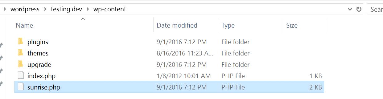 sunrise file mappatura multisite