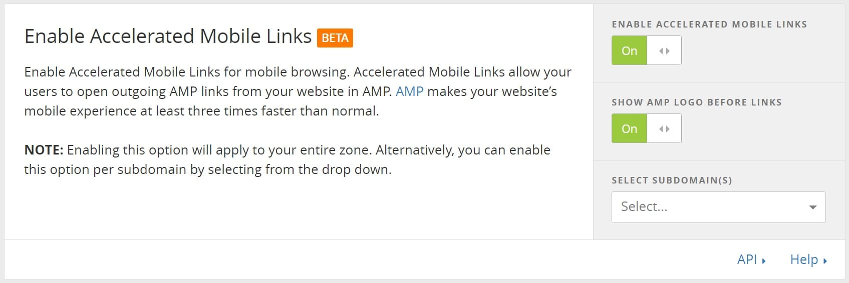 Accelerated Mobile Links di Cloudflare