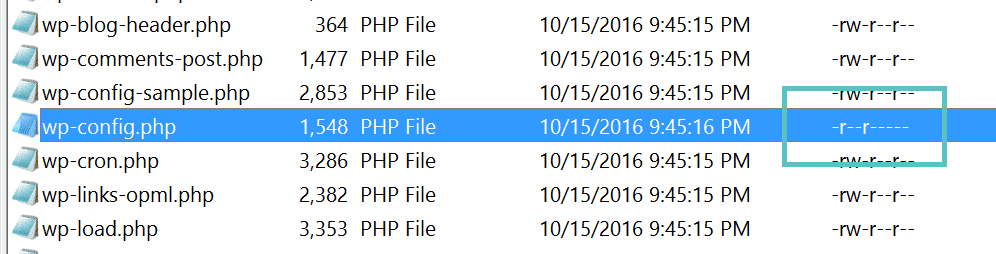 Permessi sul file wp-config