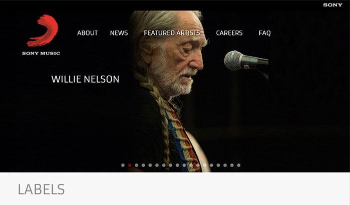 siti wordpress Sony Music