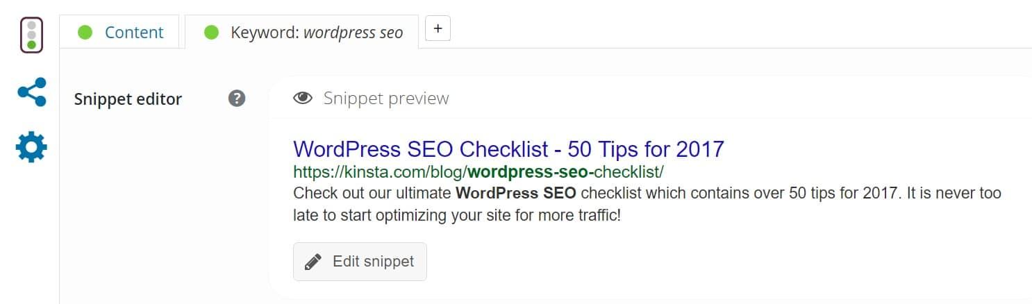 Meta descrizione SEO in WordPress