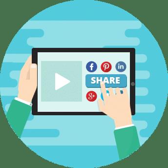 Condividere contenuti sociali