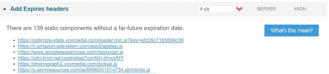 Aggiungere header Expires