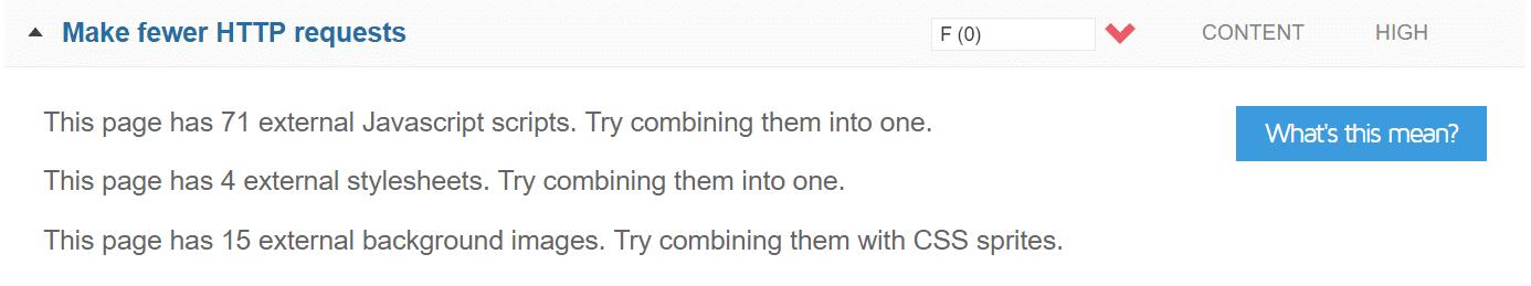 Generare meno richieste HTTP