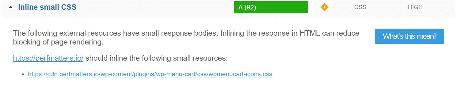 Inserite CSS piccoli in linea