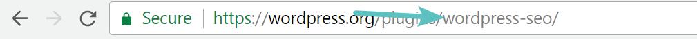 URL della repository di WordPress