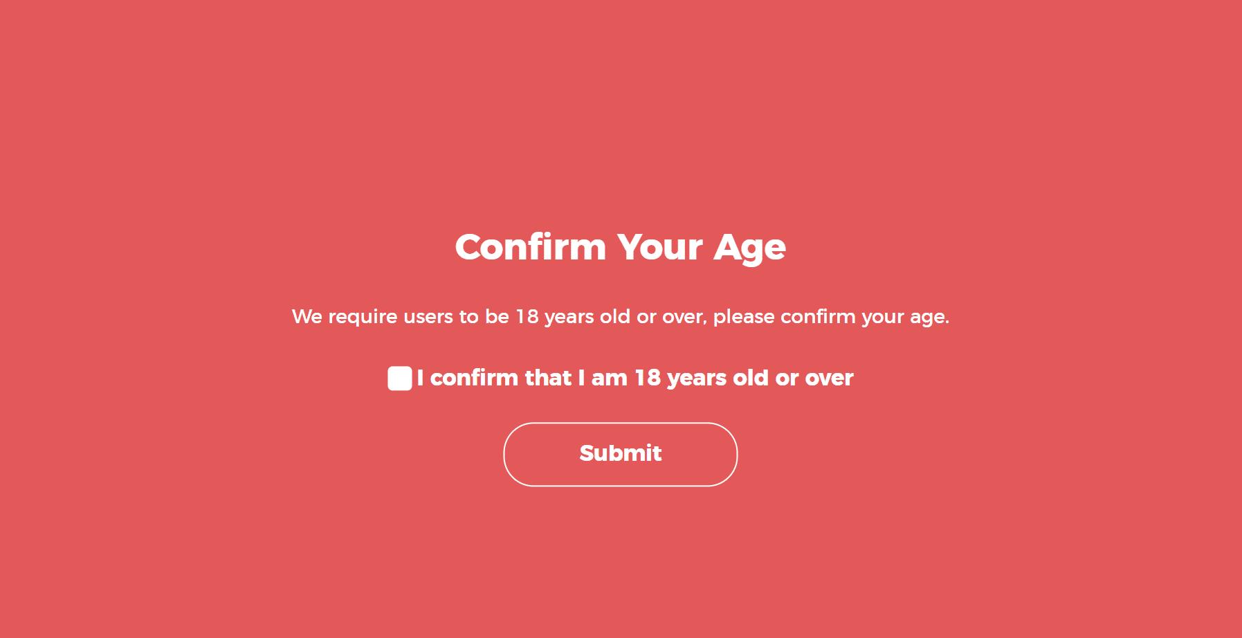 Confermare l'età su WordPress