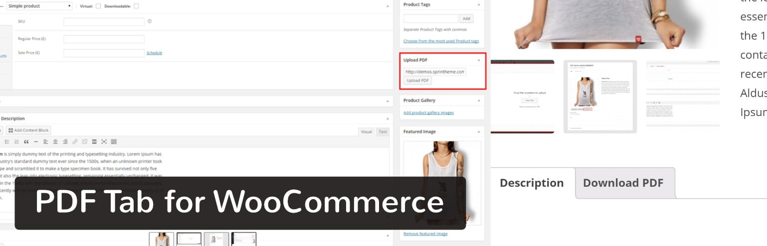 Plugin PDF Tab for WooCommerce