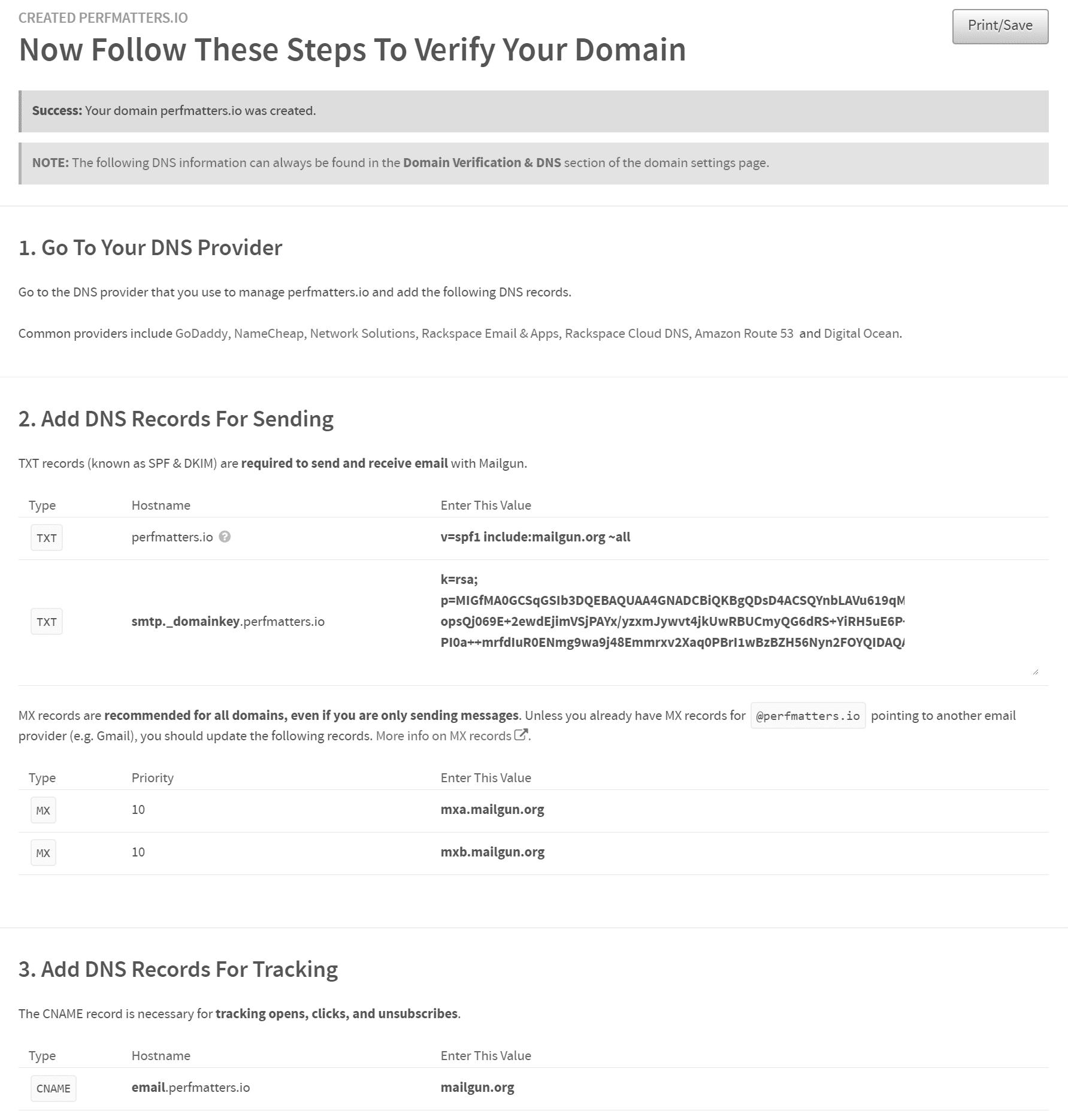 Verificare i record DNS del dominio