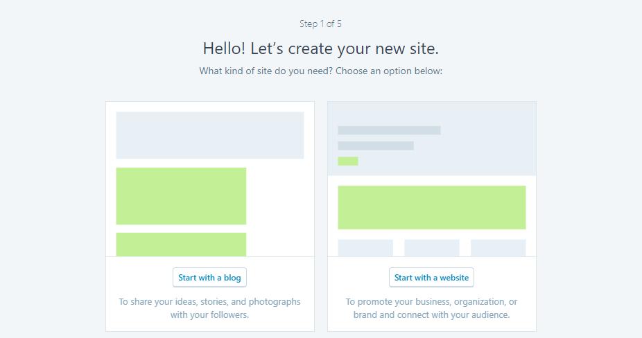 Creare un sito web con WordPress.com