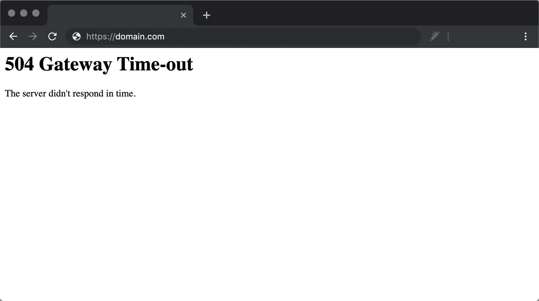 504 gateway timeout error nel Chrome