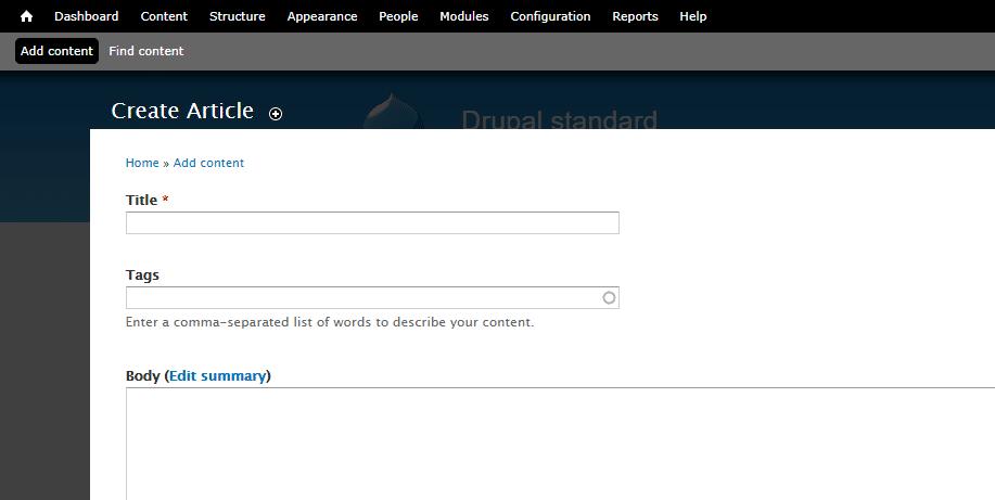 L'editor dei contenuti di Drupal 7.X