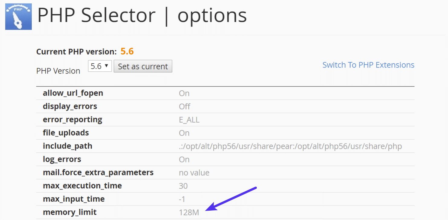 Aumentare il limite di memoria PHP in cPanel