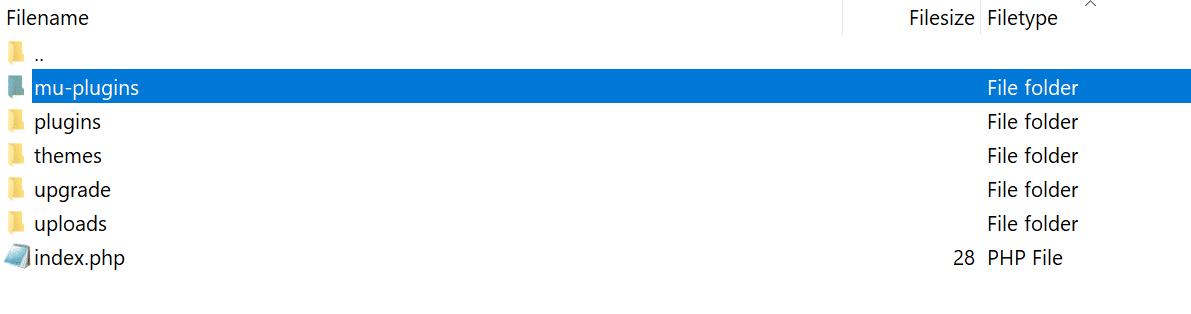 Cartella mu-plugins