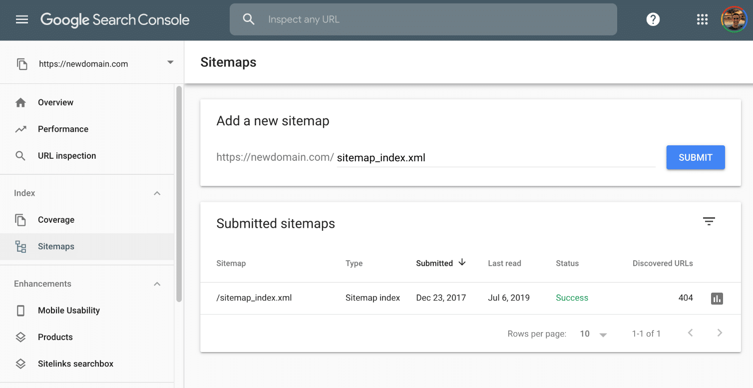 Inviare il file sitemap in Google Search Console