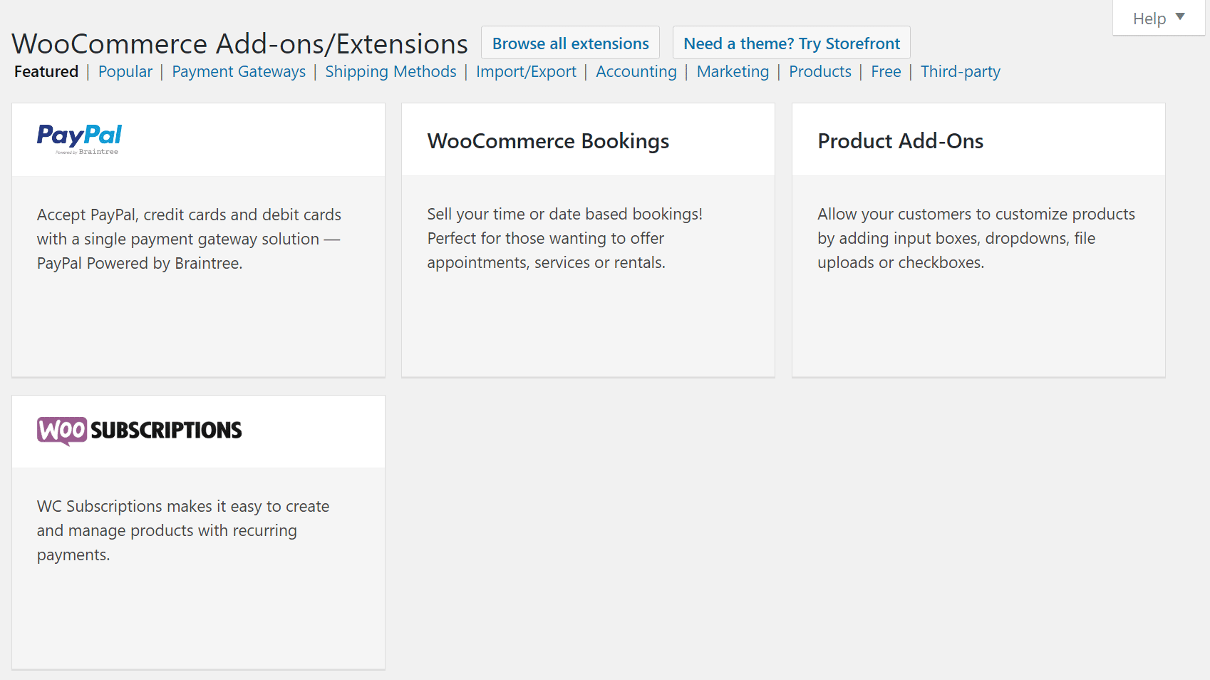 Add-on WooCommerce