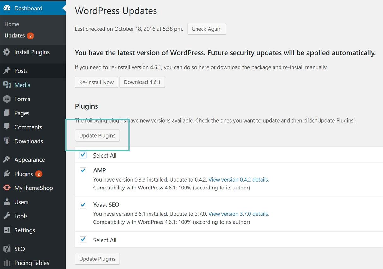 Aggiornare i Plugin di WordPress