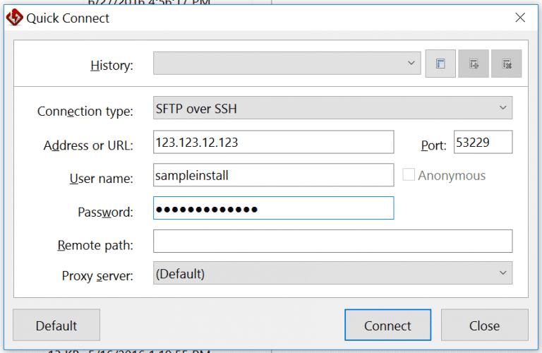 SFTP con client FlashFXP