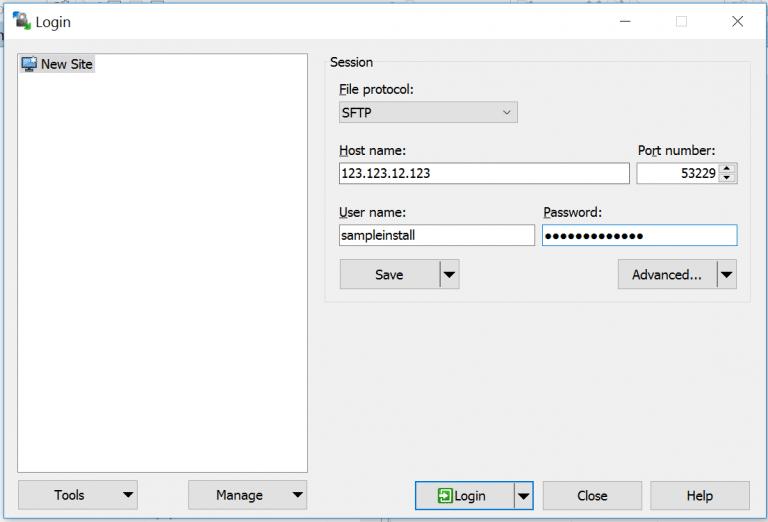 SFTP con il client WinSCP