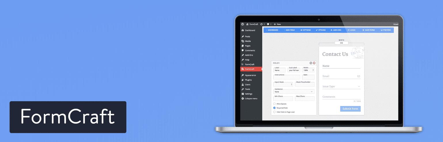 Il plugin per WordPress FormCraft