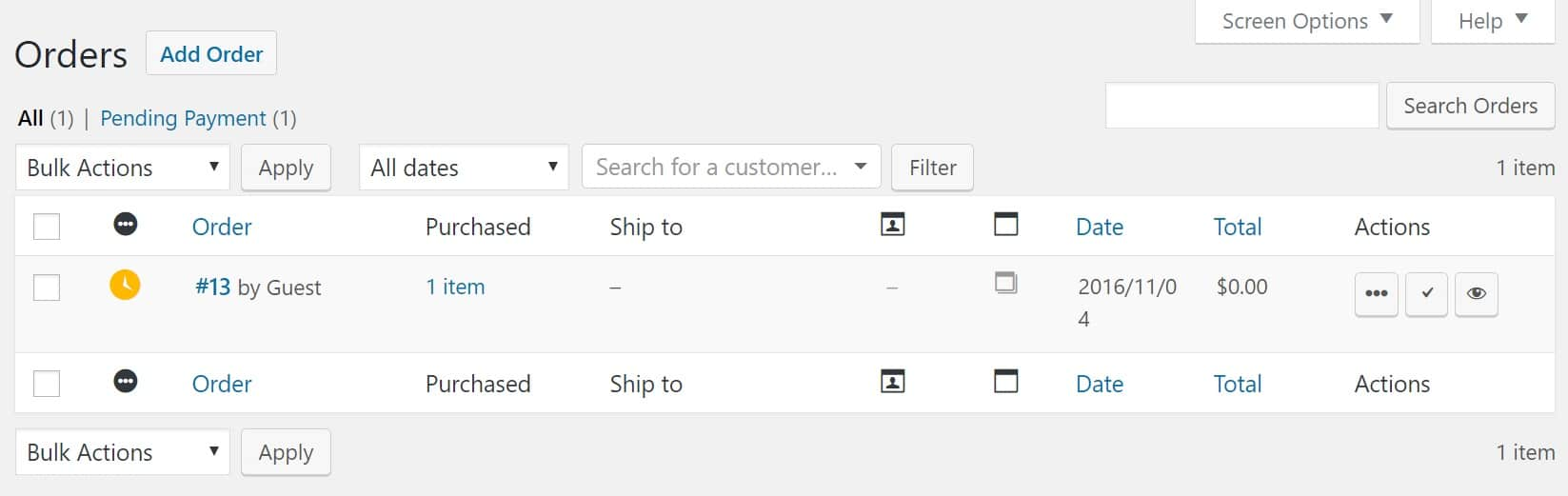 Ordini in WooCommerce