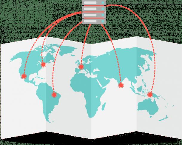 Prestazioni geografiche dei siti web