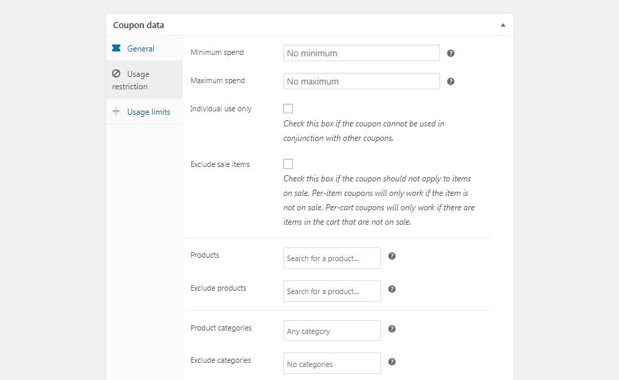 La schermata Restrizioni d'utilizzo