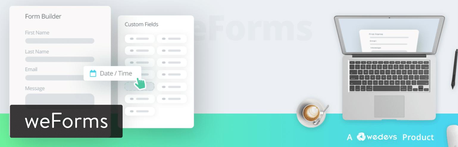 Il plugin per WordPress weForms