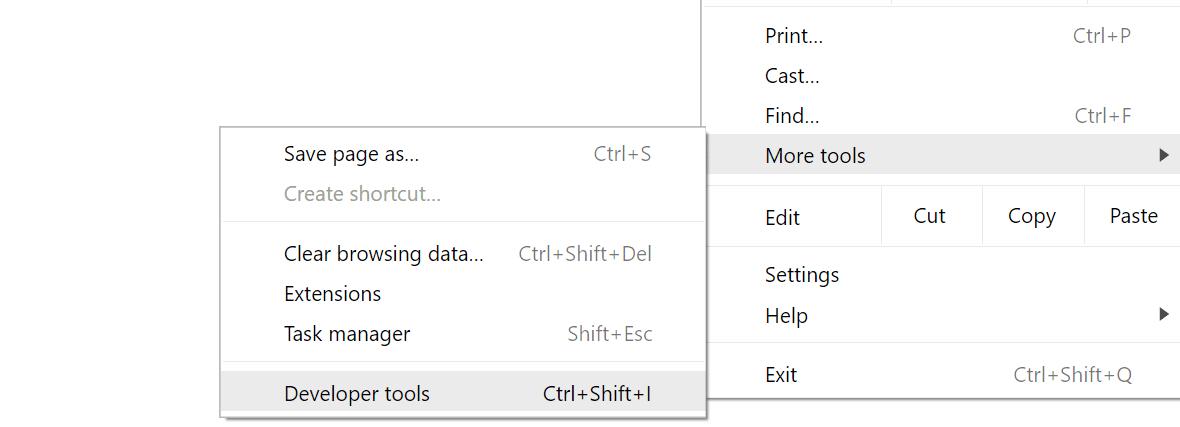 Avvio Chrome DevTools