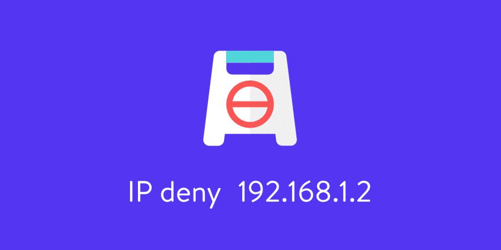 Blocca indirizzi IP