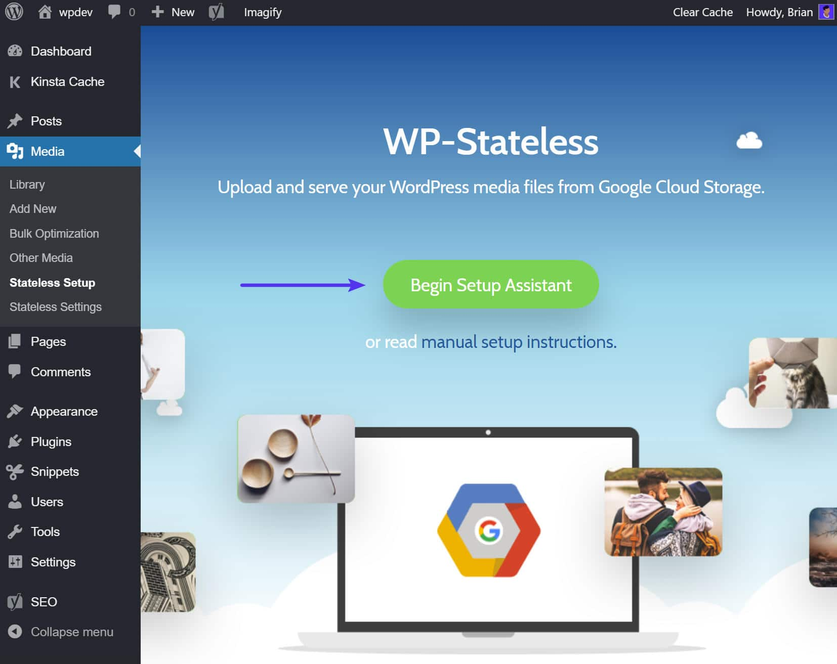 Set-up di WP-Stateless