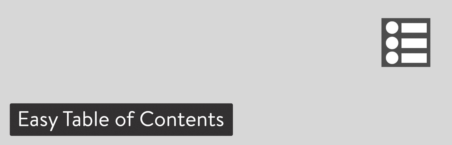 Plugin WordPress Easy Table of Contents