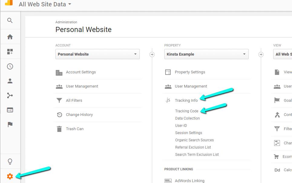 Codice di Monitoraggio di Google Analytics