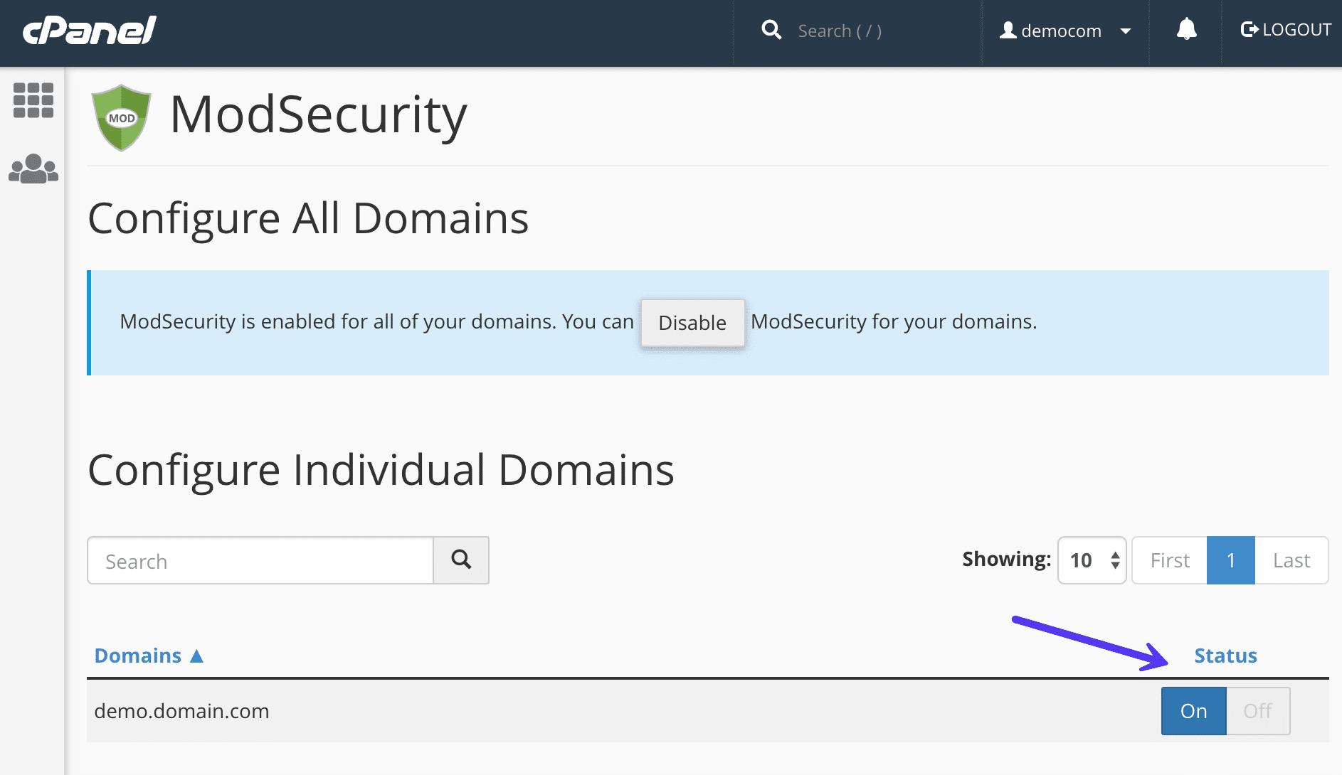Disattivare mod_security