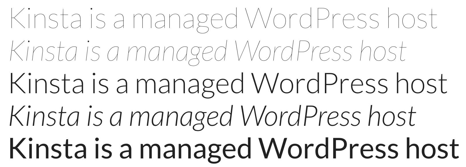 Lato Google font