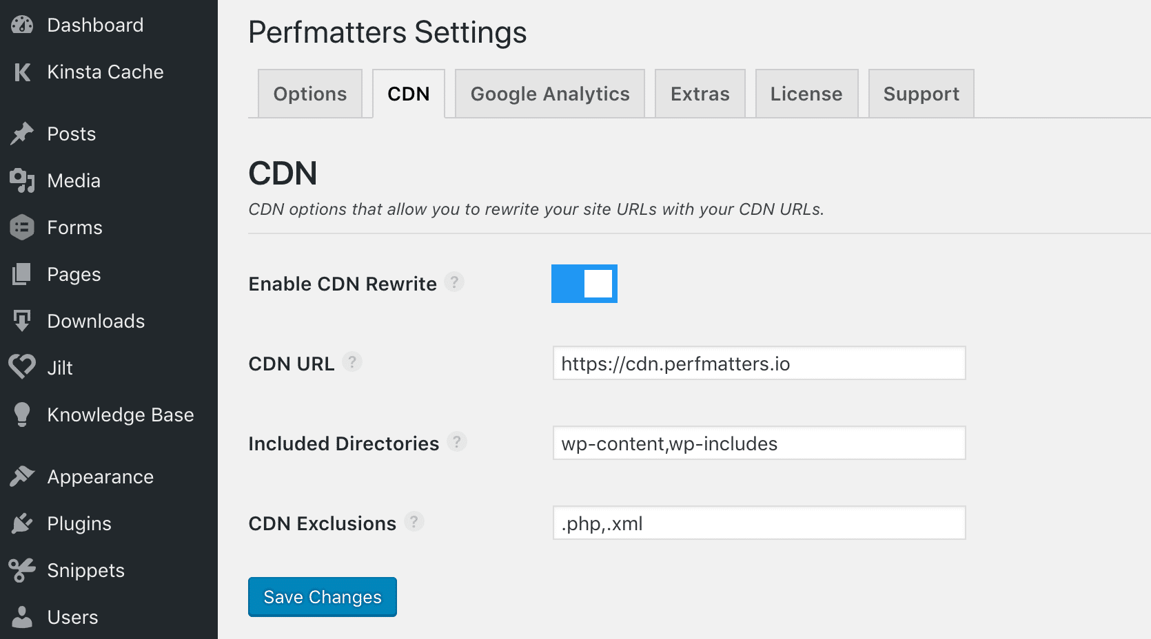 Abilitare il CDN in WordPress con Perfmatters