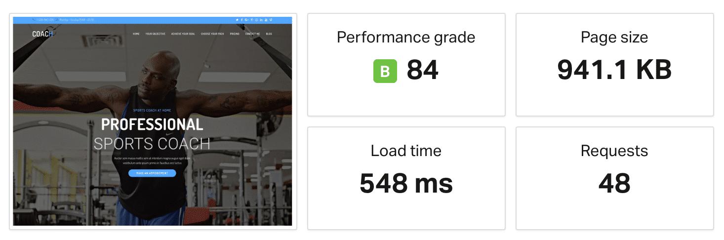 Speed test di un intero sito OceanWP