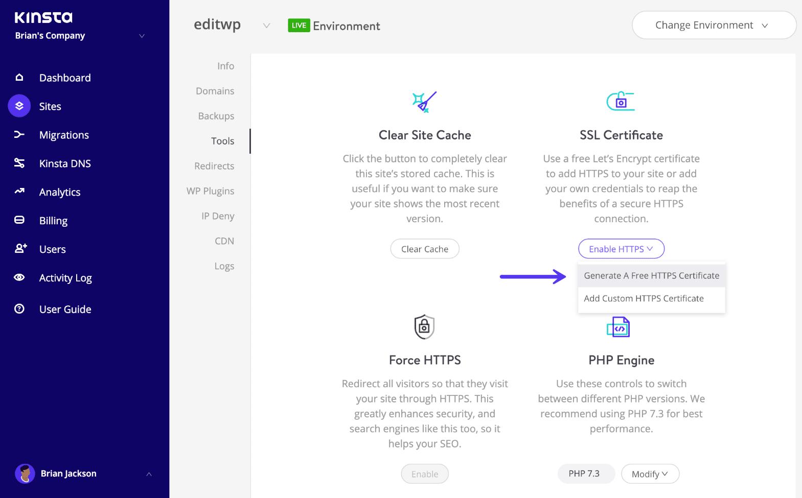Installare il certificato SSL gratuito