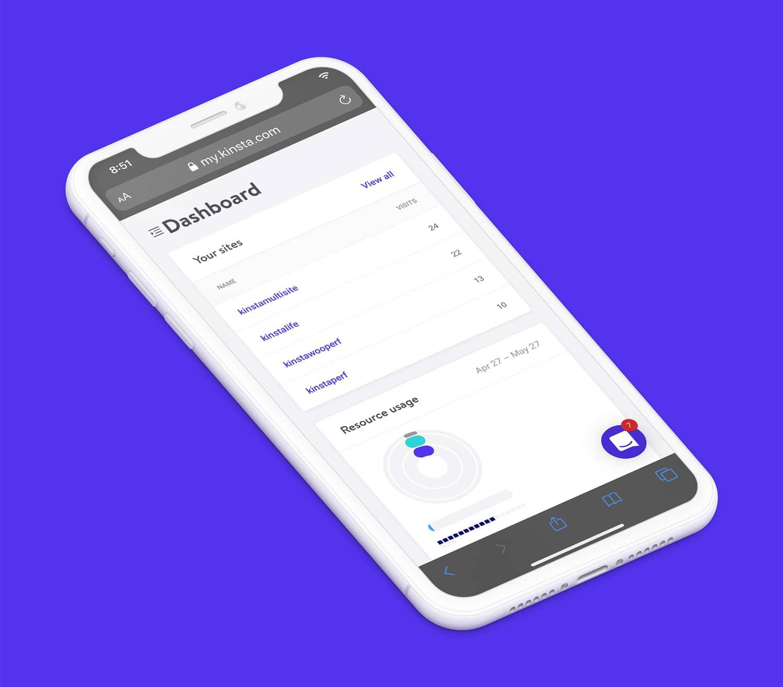 Accedete a MyKinsta dal vostro dispositivo mobile