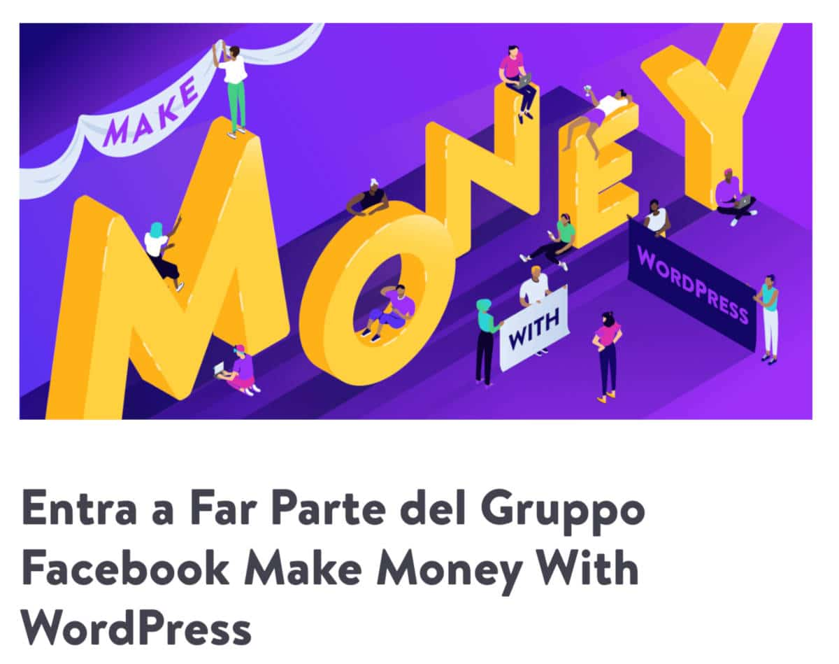 Il Gruppo Facebook Make Money with WordPress