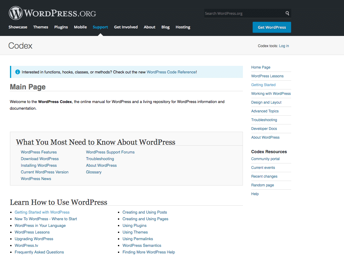 Il Codex di WordPress