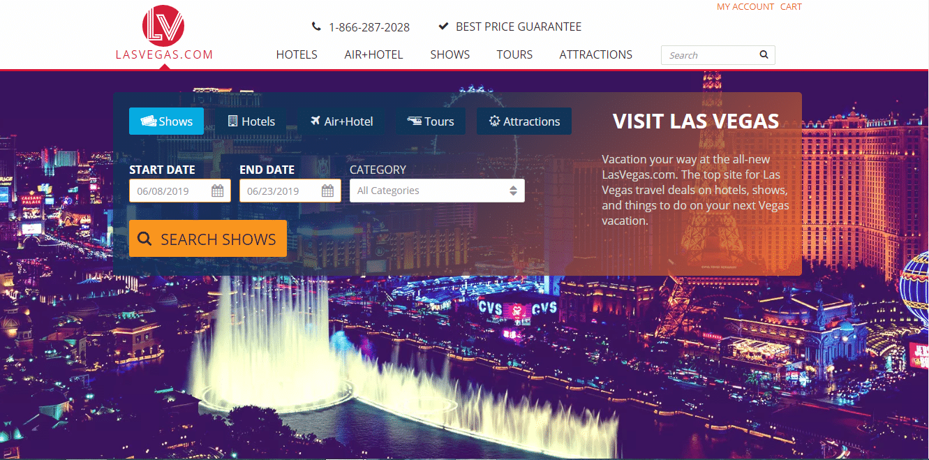 Il dominio Lasvegas.com